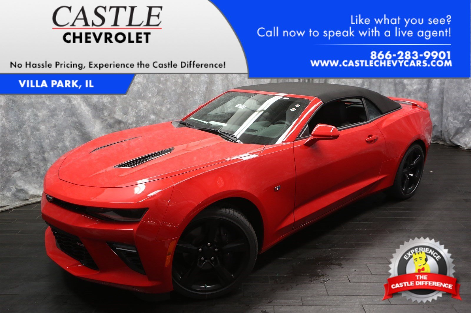 new 2017 chevrolet camaro 2ss convertible in elk grove village 36574 castle chevrolet north. Black Bedroom Furniture Sets. Home Design Ideas